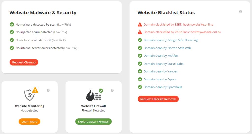Sucuri Site Check Report