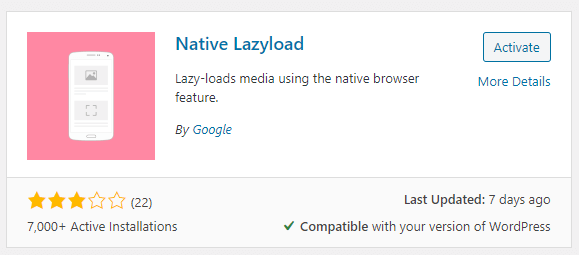 Native Lazyload - a Google Plugin to Speed up Your Website 2
