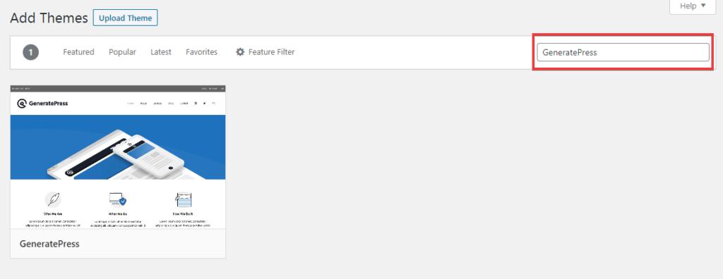 WordPress Theme Search Bar