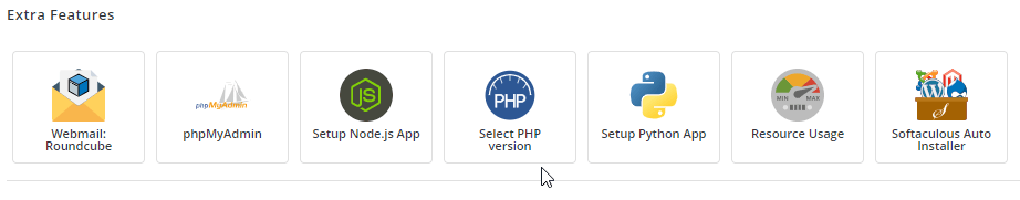Select PHP version in DirectAdmin