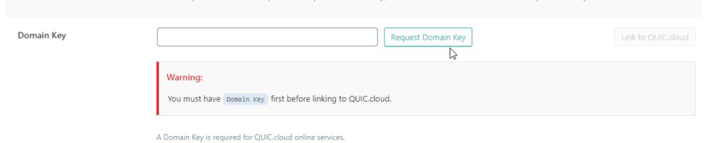 LiteSpeed Cache Request Domain Key