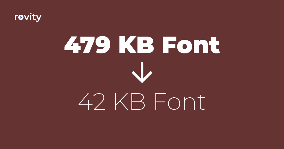 How We Reduced Our Web Font File Size 1040x Smaller