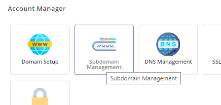 Domain Setup Icon DirectAdmin