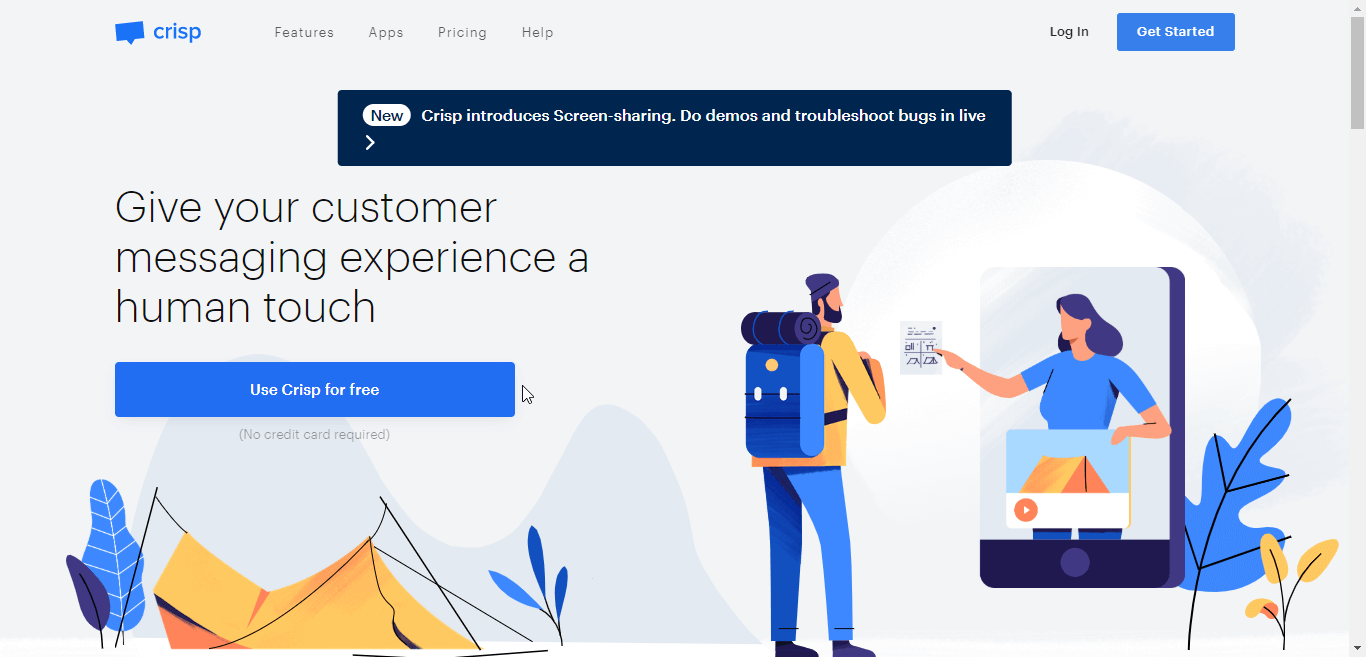 Crisp Chat Home Page