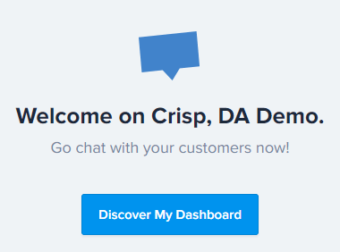 Crisp Chat Signed Up Welcome Message