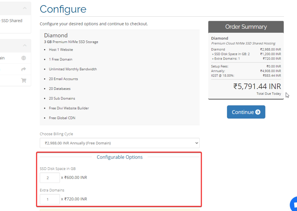 Rovity Hosting Configure Page