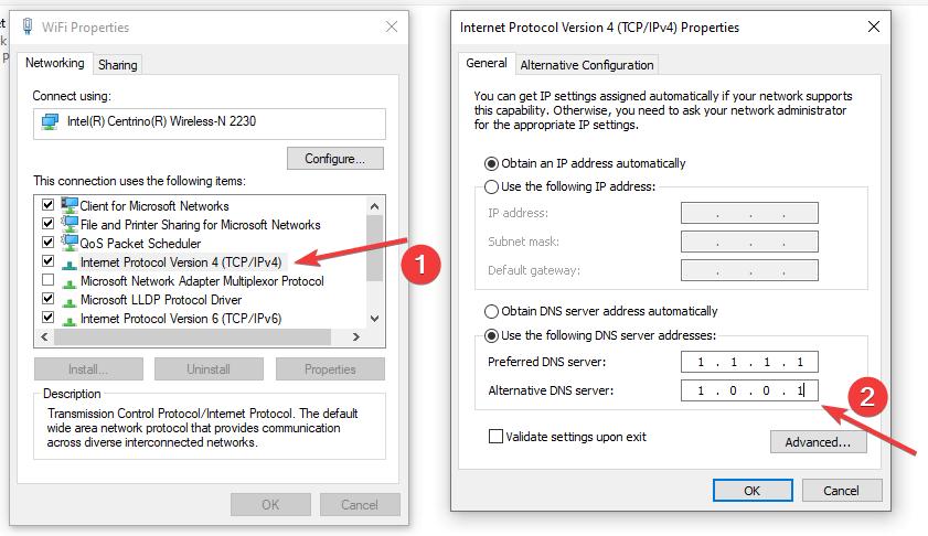 Change Windows DNS Server IP