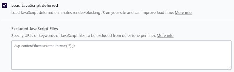 Load JavaScript Deferred WP Rocket Plugin