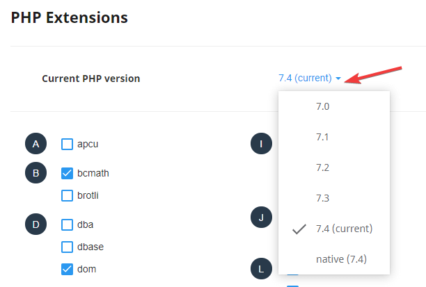 PHP Version Change in DirectAdmin