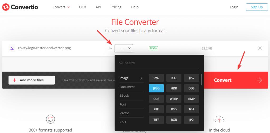 Convertio Online Image Converting Tool