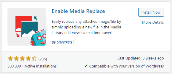 Enable Media Replace WordPress Media Library Plugin