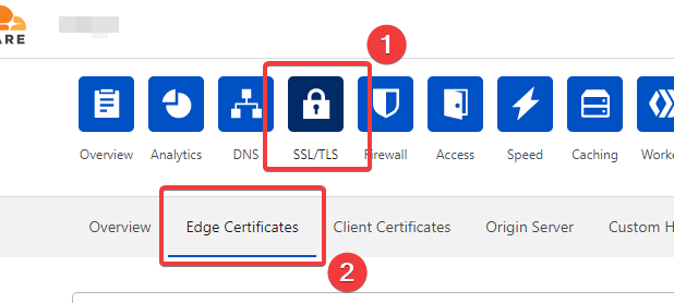 Edge Certificates in Cloudflare